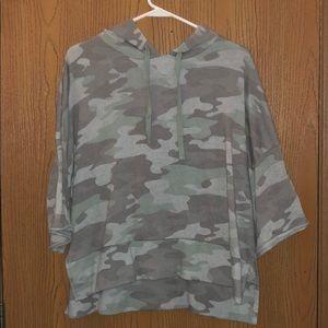 camo short sleeve hoodie